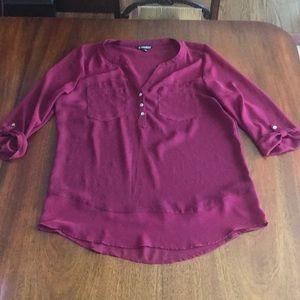 NWOT Express mixed material blouse